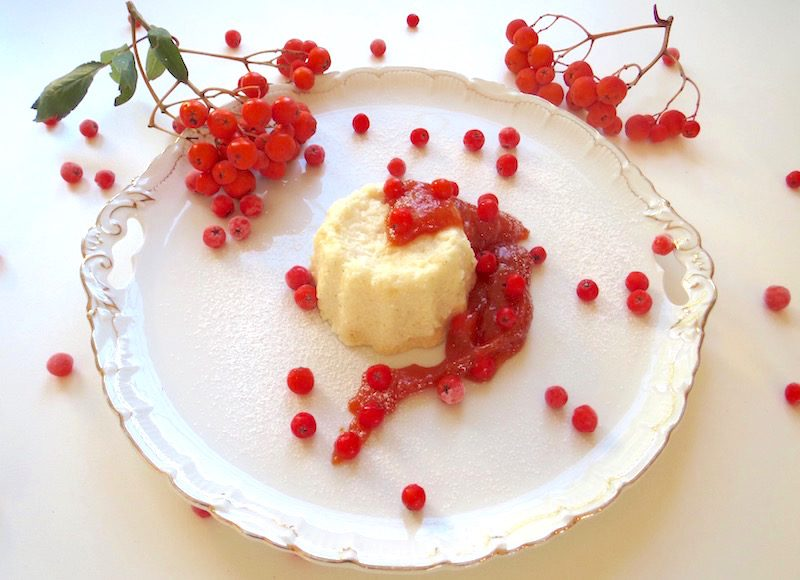 Vogelbeer-Dessert